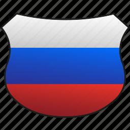 flag, russia icon