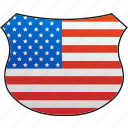 america, flag, usa icon