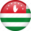 abkhazia, circle, country, flag, nation, national icon