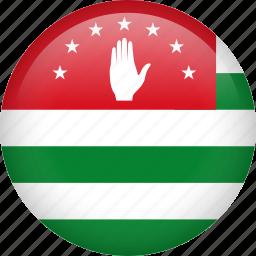 abkhazia, circle, country, flag, nation, national icon