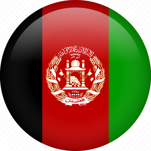 afghanistan, circle, country, flag, nation, national icon