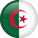 algeria, circle, country, flag, nation icon