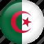 algeria, circle, country, flag, nation icon