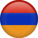 almenia, armenia, circle, country, flag, nation icon