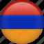 almenia, armenia, circle, country, flag, nation icon