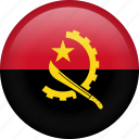 angola, circle, country, flag, nation, national icon