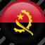 angola, circle, country, flag, nation, national icon