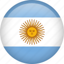 argentina, circle, country, flag, national, nation