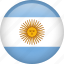 argentina, circle, country, flag, nation, national icon