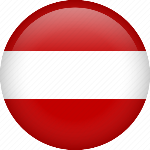 austria, circle, country, flag, nation, national icon