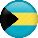 bahamas, circle, country, flag, nation, national icon
