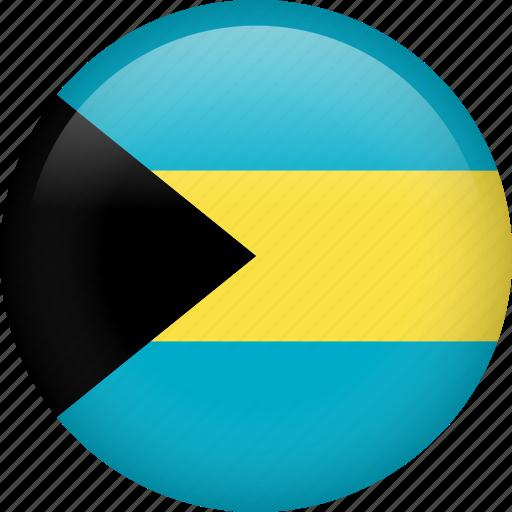bahamas, circle, country, flag, nation, national icon