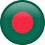 bangladesh, circle, country, flag, nation, national icon