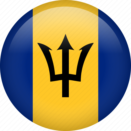 barbados, circle, country, flag, nation, national icon