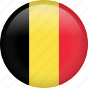 belgium, circle, country, flag, nation, national icon