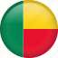 benin, circle, country, flag, nation, national icon