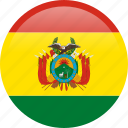 bolivia, circle, country, flag, nation icon