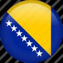 bosnia, circle, country, flag, national, nation