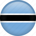 botswana, circle, country, flag, national, nation icon
