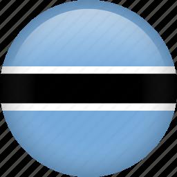 botswana, circle, country, flag, nation, national icon