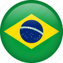 brazil, circle, country, flag, national