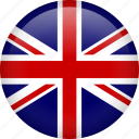 britain, british, circle, england, europe, flag, kingdom icon