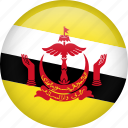 brunei, circle, country, flag, nation, national