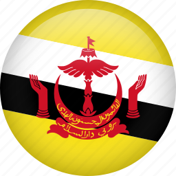 brunei, circle, country, flag, nation, national icon