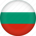 bulgaria, circle, country, flag, nation, national icon