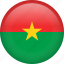 burkina faso, circle, country, flag, nation, national icon