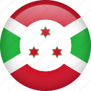 burundi, circle, country, flag, nation, national icon