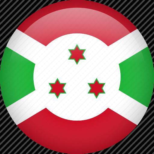 burundi, circle, country, flag, nation, national icon