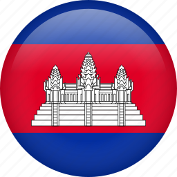 cambodia, circle, country, flag, nation, national icon
