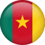 cameroon, circle, country, flag, nation, national icon