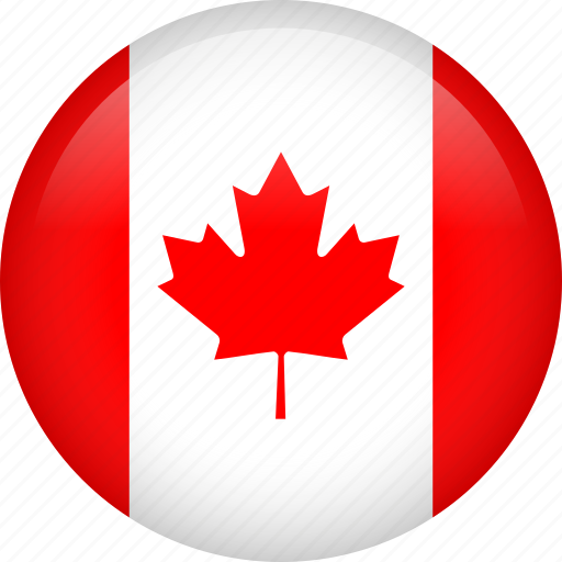 canada, circle, country, flag, nation, national icon