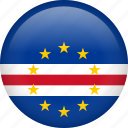 cape verde, circle, country, flag, nation icon