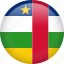 central african republic, circle, country, flag, nation, national icon
