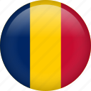 chad, circle, country, flag, nation