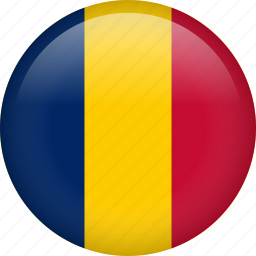 chad, circle, country, flag, nation icon