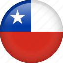 chile, circle, country, flag, nation