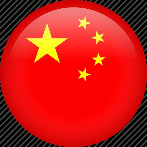 asian, china, circle, country, flag, national icon