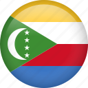 circle, comoros, country, flag, nation, national icon