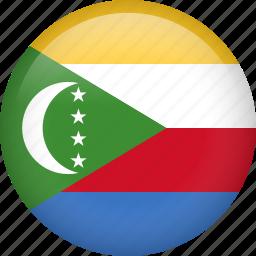 circle, comoros, country, flag, nation, national icon