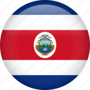 circle, costa rica, country, flag, nation, national icon