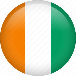 circle, country, côte d'ivoire, flag, nation, national icon