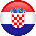 circle, country, croatia, flag, nation, national icon