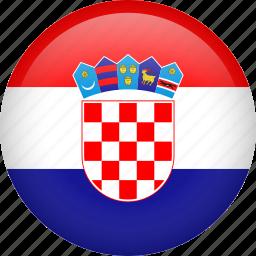 circle, country, croatia, flag, nation, national icon