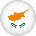 circle, country, cyprus, flag, nation, national icon
