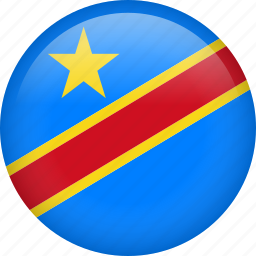 circle, country, democratic republic of the congo, flag, nation, national icon