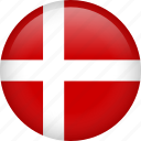 denmark, circle, country, flag, national, nation